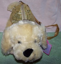 KellyToy Pack Mate Plush Puppy with Gold Sequin... - $10.88