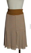 CHARLES NOLAN Rust Brown/Ivory Jersey Silk Ribb... - $19.75