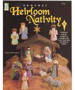 Free Ship Crochet Heirloom Nativity Sharon Volk... - $19.99