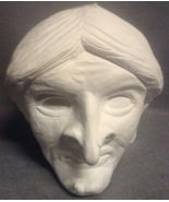 Unfinished Plaster Large Halloween Witch Head S... - $29.99