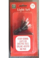 10 bulb Battery operated Clear White Christmas ... - $3.99