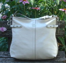 Coach Large Cream/Chalk Leather COLLETTE HOBO S... - $95.00