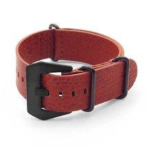 DASSARI Concrete Rust Italian Leather NATO Zulu... - $34.99