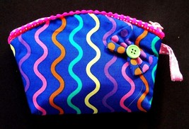 COLORFUL KIDS COIN WALLET HANDMADE ZIPPING TOP ... - $6.99