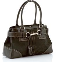 Coach 10245 Signature Black Jacquard Leather sa... - $157.41