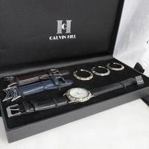 Calvin Hill 40MM Quartz Men Watch Changeable Be... - $39.59