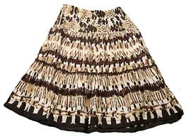 Womens Multi-Color COVINGTON Skirt LP Large Pet... - $14.73