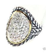 WR101 Sz 6 -  Celebrity Style Sterling Silver C... - $34.99