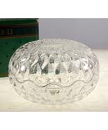 Vintage Avon French crystal round trinket box l... - $15.00