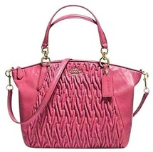 Coach 37081 Small Kelsey Twisted Gathered Leath... - $165.33
