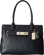 COACH Women's Polished Pebble Leather New Swagg... - $283.22
