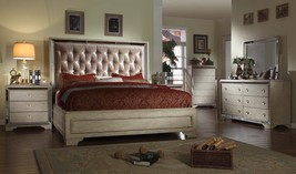 Mcferran RB9805 Imperial Eastern Queen Bedroom set 5.pc Chic Contemporary