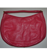 Ann Taylor Leather Purse Fuschia Pink Hobo Bag ... - $15.83