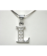 925 Sterling Silver CZ Initial Letter L Charm P... - $10.00