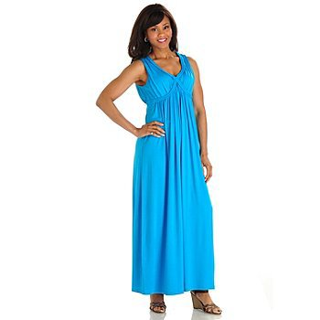 Love, Carson by Carson Kressley Braided Trim Knit Maxi Dress  Blue Meduim