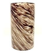Neckless Cylinder Light Shade Brown Cased Art G... - $24.95