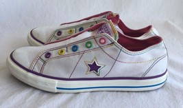 CONVERSE One Star Shoes White & Purple Low Top ... - $29.05