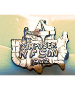 Vintage NFSM 1962 Bronze Composer Pin Piano - $5.00