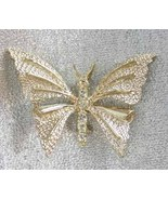 Gerry's 60s Crystal Rhinestone Butterfly Brooch - $14.95