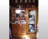 Buy antique custom made oak side by side display furniture