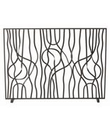 FORGED IRON FIREPLACE SCREEN,  Hand-Twisted Rib... - $1,029.00