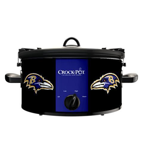 Official NFL Crock-Pot Cook & Carry 6 Quart Slow Cooker - Baltimore Ravens