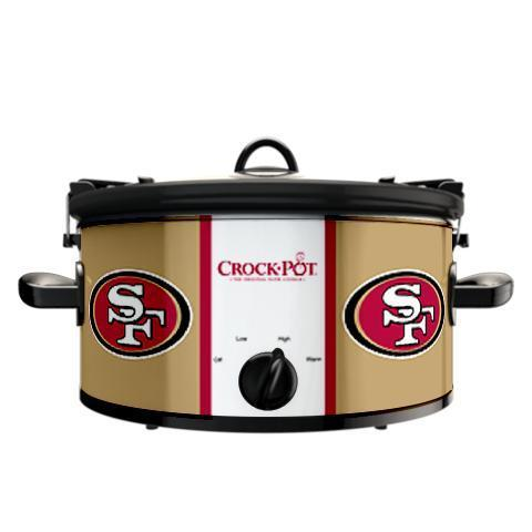 Official NFL Crock-Pot Cook & Carry 6 Quart Slow Cooker - San Francisco 49ers