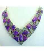 Aquamarine and Purple Turquoise Nuggets Sterlin... - $327.49