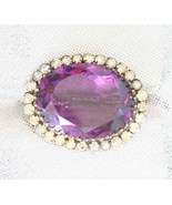 Antique Victorian Purple Cut Glass Crystal Rhin... - $70.00
