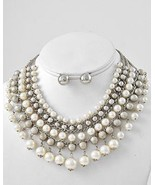 Gorgeous mother of the bride ivory pearl neckla... - $20.82