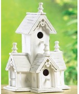 Birdhouse Victorian-style house four  perches. ... - $10.69