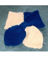 hand knitted school colors lotus leaf neck scar... - $10.00