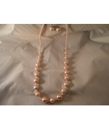 Pretty Pearl like necklace and earrings - $8.50