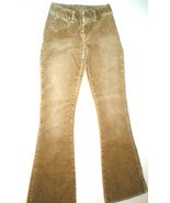 New WOMENS JUNIORS 25 SILVER JEANS CORDUROY Tan... - $24.99