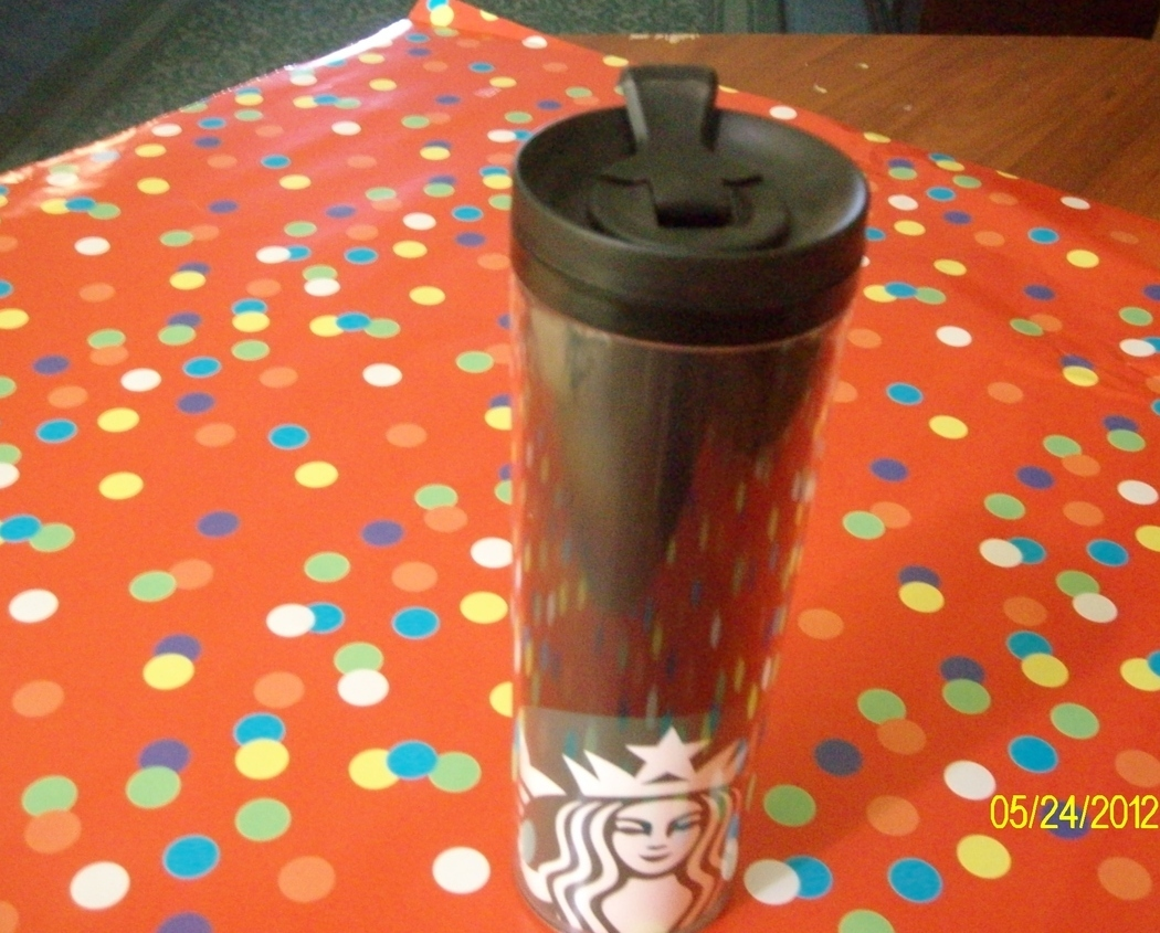 Starbucks Black Tumbler With Lid Mermaid Logo New