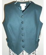 WORTHINGTON petite PURE 100% WOOL vest MALLARD ... - $30.10
