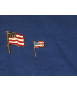 Two American Flag Pins Rhinestones & Enameled - $4.99