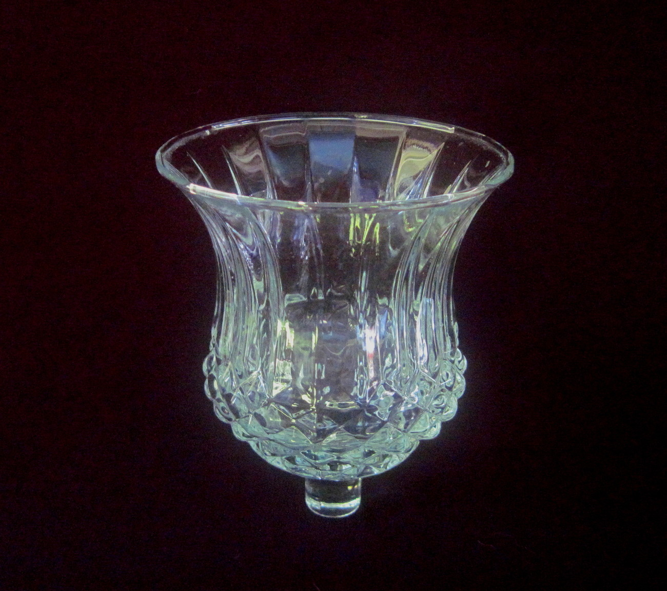 Home Interiors Peg Votive Holder Diamond Cut Wide