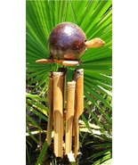 Bamboo/Coconut Windchime-Bobing Head Turtle-Win... - $22.00
