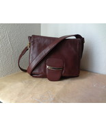 Laura Scott ~~~ Soft Burgundy Leather handbag ~... - $45.98