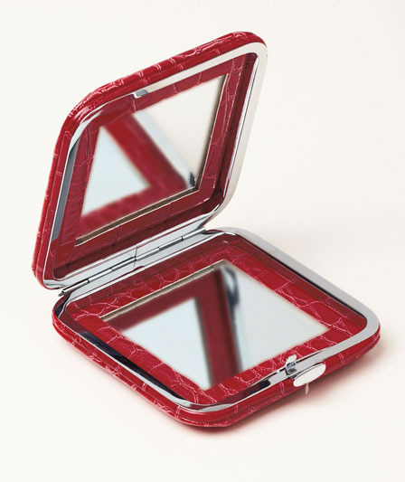 Image 2 of Croco Compact Mirrors  Teal  Two mirrors- 2 strengths