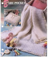 Baby Pocket Afghan & Pillow Crochet Pattern Annies Attic - $2.49