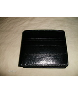 Men&#39;s Black Genuine Leather bi-fold  Wallet/Picture Holder/ID Holder