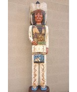 Native American 6 ft Carved Wooden Cigar Store ... - $1,959.77