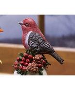 Ceramic Bird Bell Collectible Pine Grosbeak New - $10.95