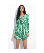 DIANE von FURSTENBERG REINA DESERT LEAF DRESS - US 14 - UK 18
