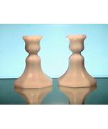Vintage Candlesticks White Milk Glass Octagonal... - $14.99