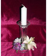 Partylite Candlestick Vase Crystal Cut Clear Ca... - $10.99