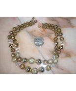 Vintage Necklace crystals and gold balls Jewelry - $20.00