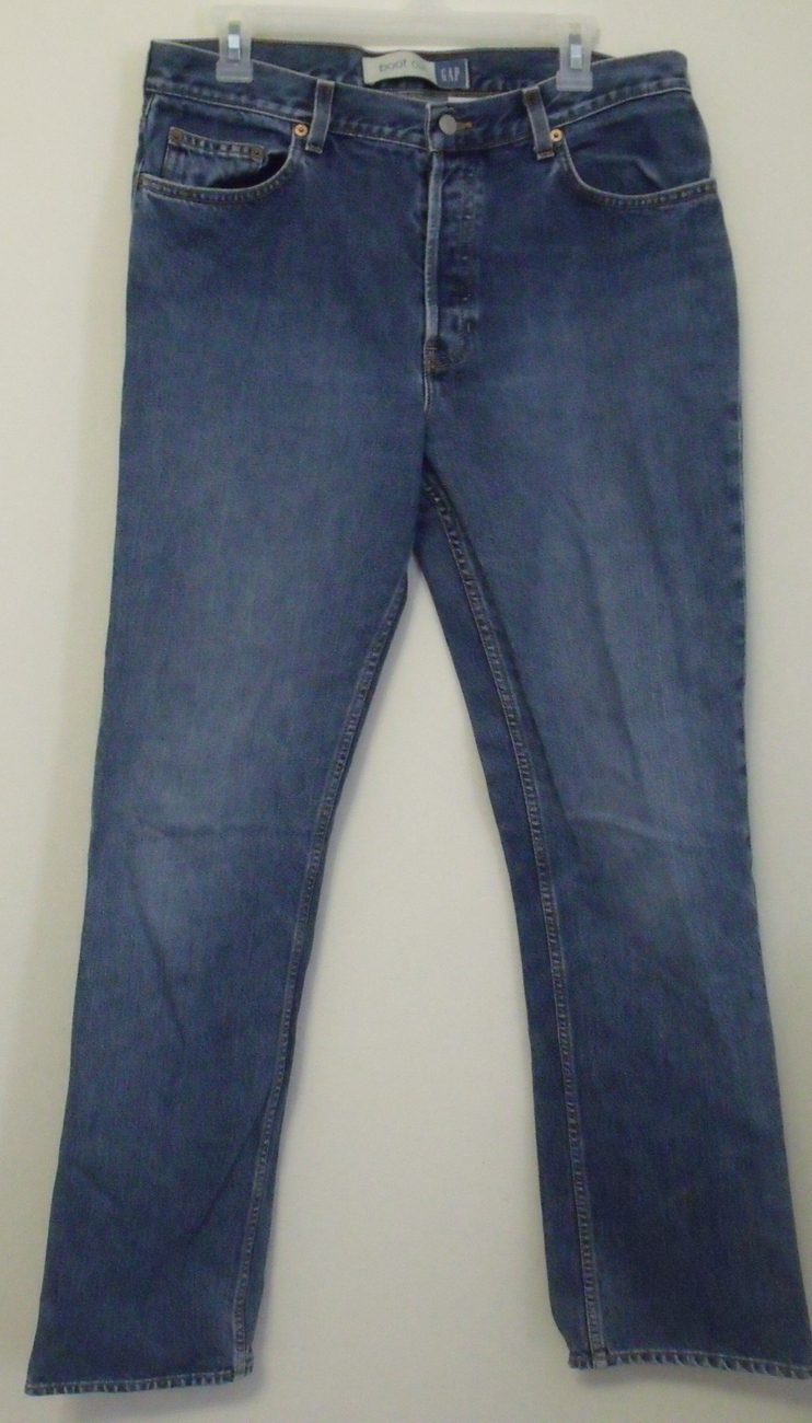 Womens Gap Boot Cut Denim Blue Jeans Size 14 Long